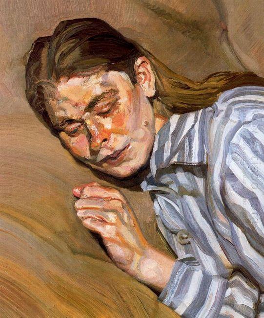 Girl In Striped Nightshirt 1985
