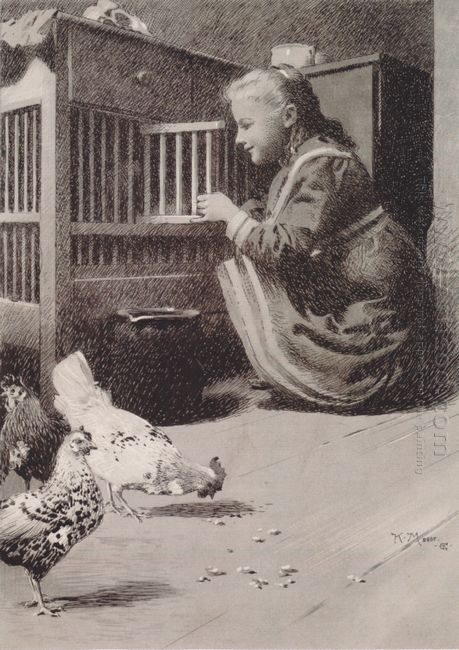 Girls In Henhouse 1897
