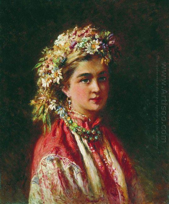 Girl Wering A Crown