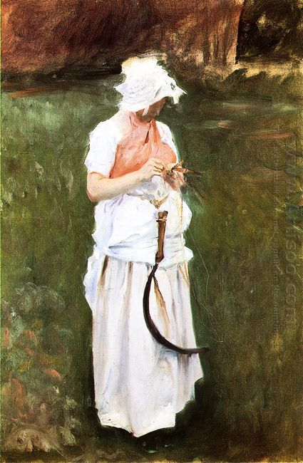 Girl With A Sickle 1885