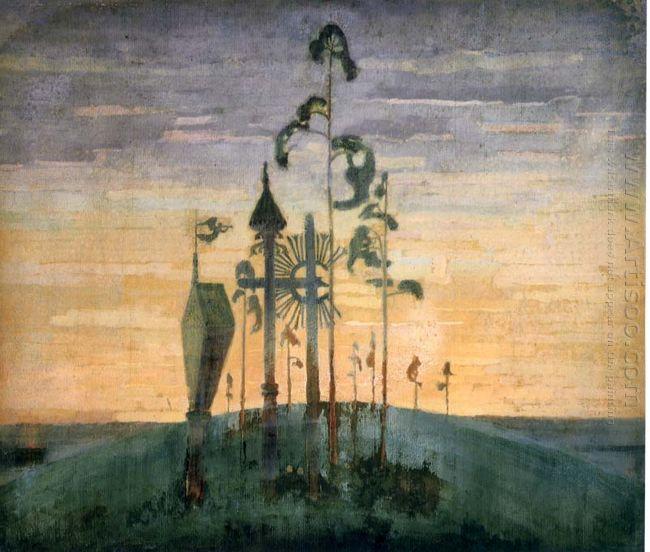 Graveyard Motif 1909