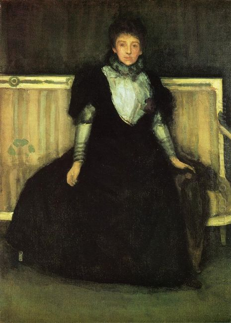 Green And Violet Portrait Of Mrs Walter Sickert 1886