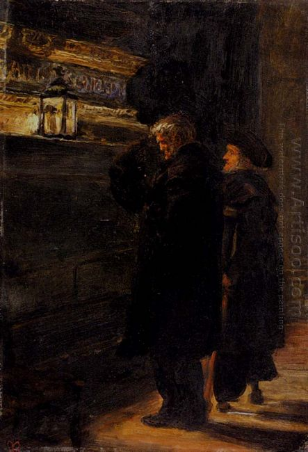 Greenwich Pensioners At The Tomb Of Nelson