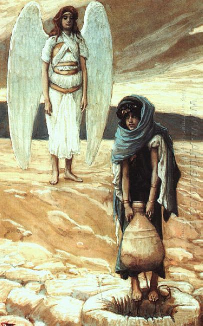 Hagar And The Angel In The Desert 1900