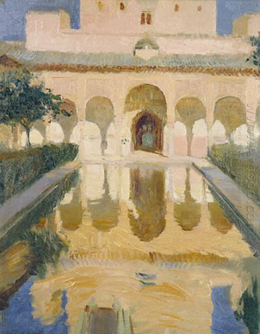 Hall Of The Ambassadors Alhambra Granada 1909