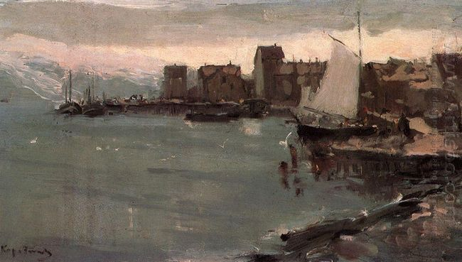 Harbor In Norway 1894