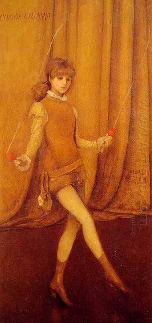 Harmony In Yellow And Gold The Gold Girl Connie Gilchrist 1873