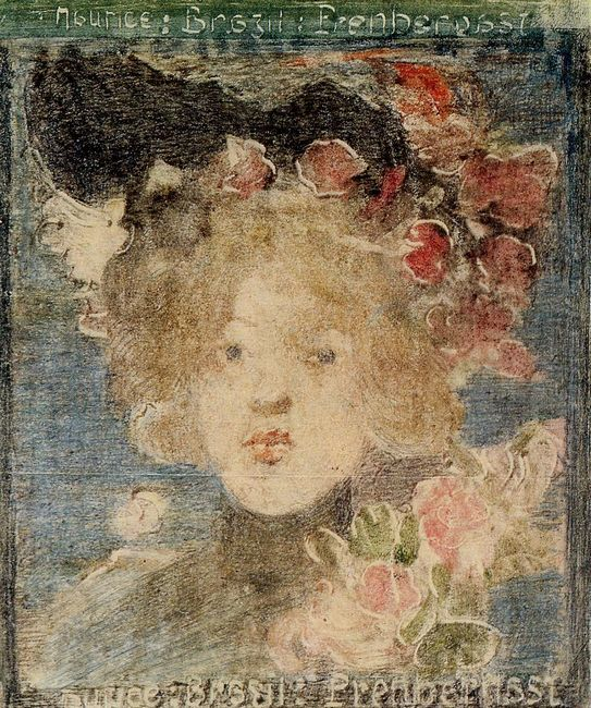 Head Of A Girl With Roses