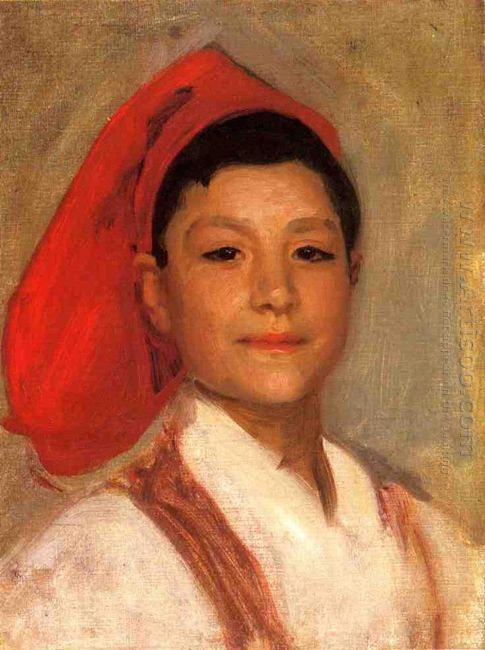 Head Of A Neapolitan Boy 1879