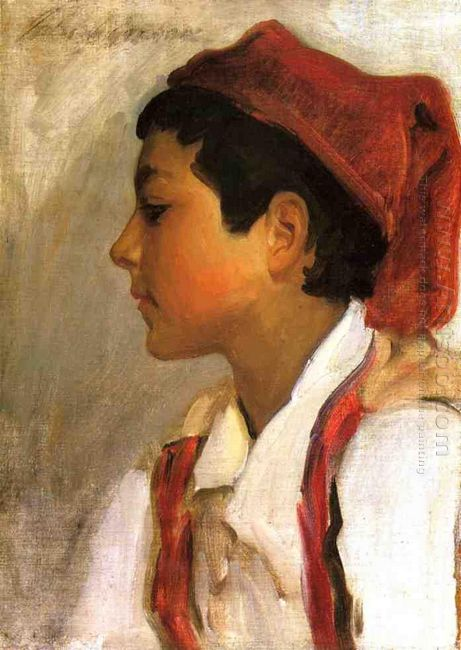 Head Of A Neapolitan Boy In Profile 1879