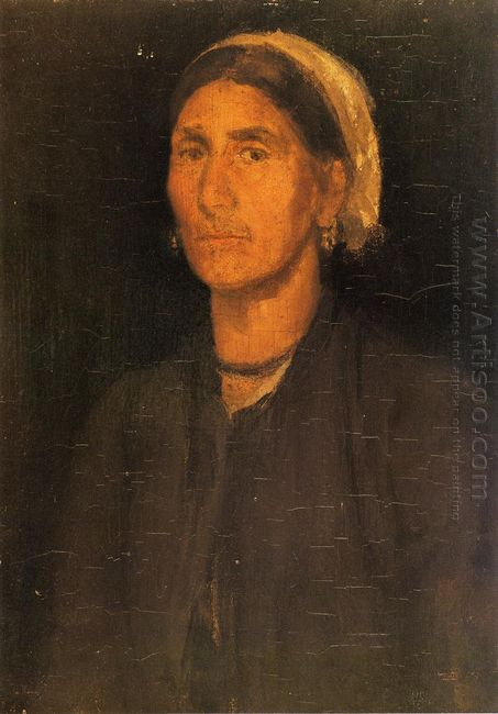 Head Of A Peasant Woman 1858