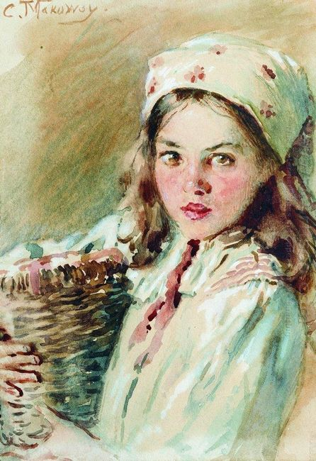 Head Of The Girl In A Kerchief