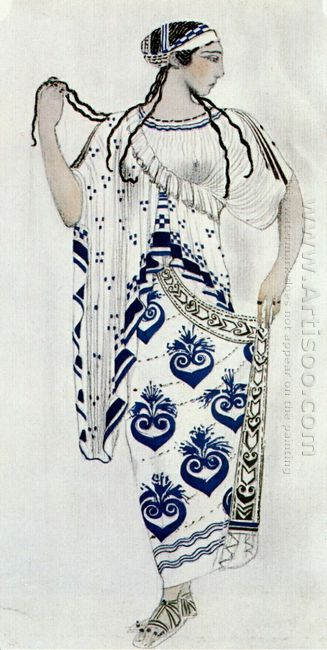 Helene De Sparte Costume For Ida Rubinstein As Helene