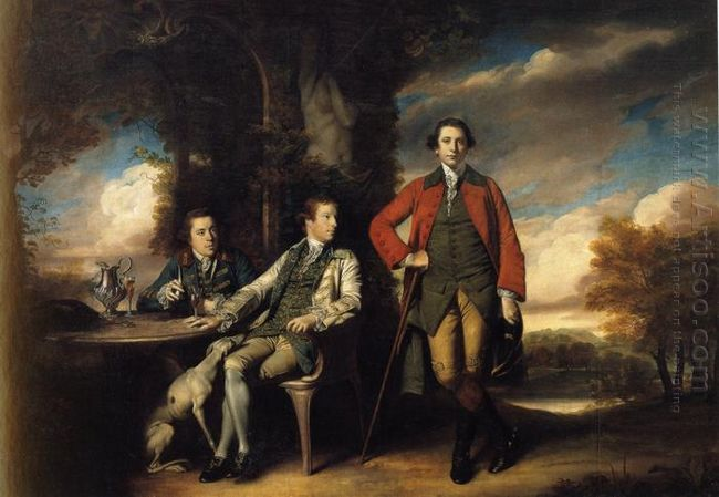 Henri Fane With His Guardians 1762
