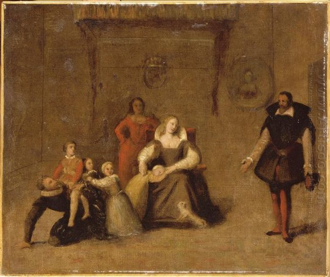 Henry Iv Playing With His Children 1
