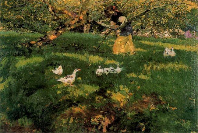 Herding Geese In The Asturias 1903