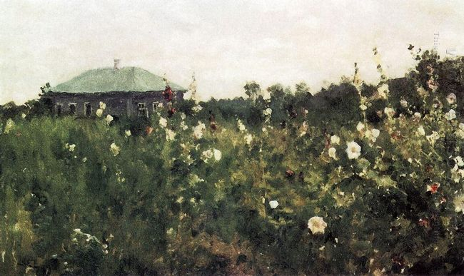 Hollyhocks In The Saratov Region 1889