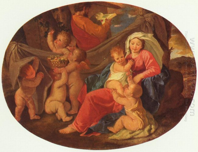 Holy Family With Angels 1630