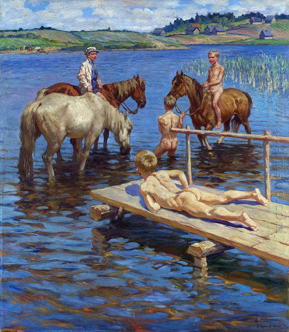 Horses Bathing
