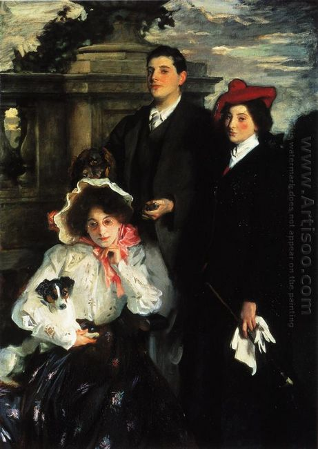 Hylda Almina And Conway Children Of Asher Wertheimer 1905