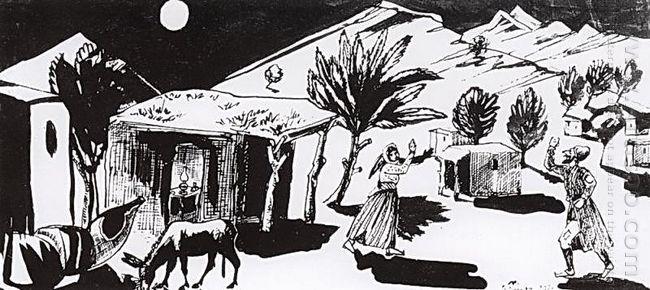 Illumination For The Tale By Hovhannes Tumanyan Nazar The Brave
