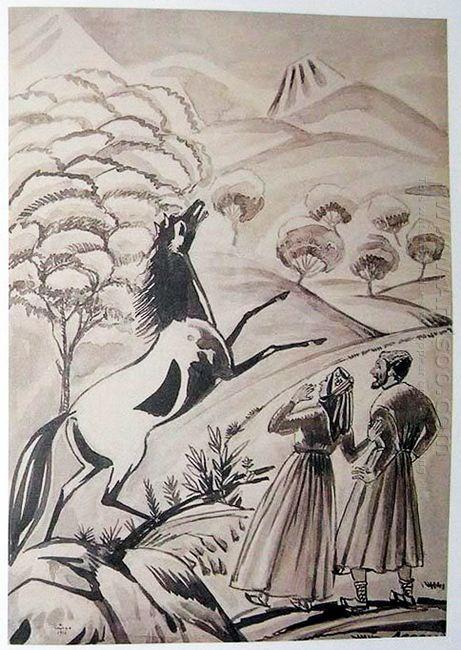 Illustration To Armenian Folk Tales 1937 11