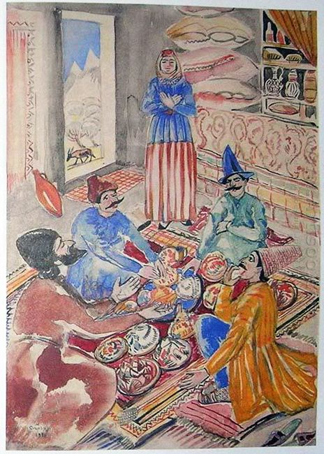 Illustration To Armenian Folk Tales 1937 1
