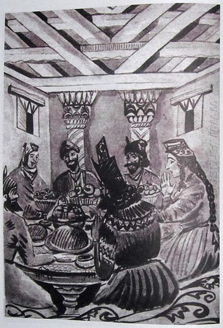 Illustration To Armenian Folk Tales 1937 8