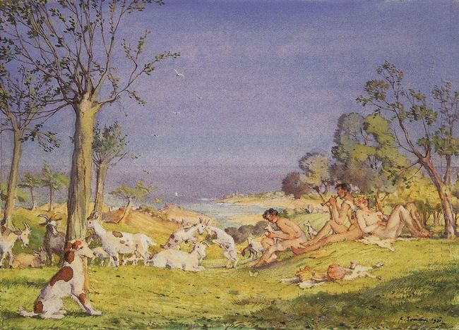Illustration To The Novel Daphnis And Chloe 1