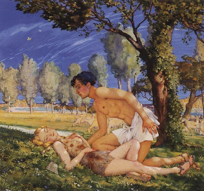Illustration To The Novel Daphnis And Chloe 4
