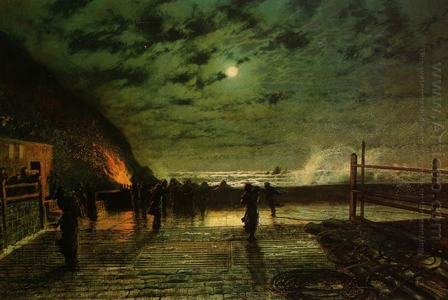 In Peril The Harbour Flare 1879