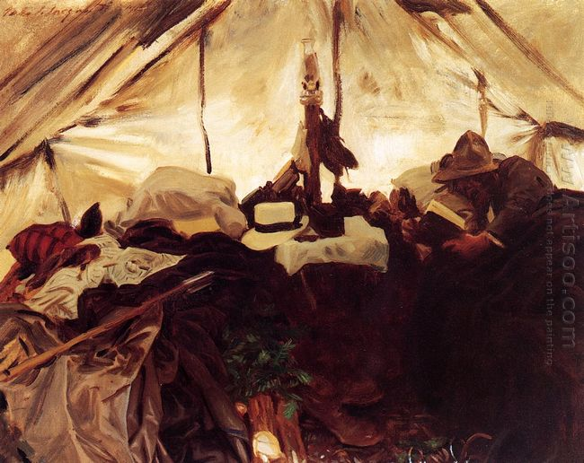 Inside A Tent In The Canadian Rockies 1916