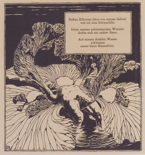 Iris Illustration To A Poem By Arno Holz 1898