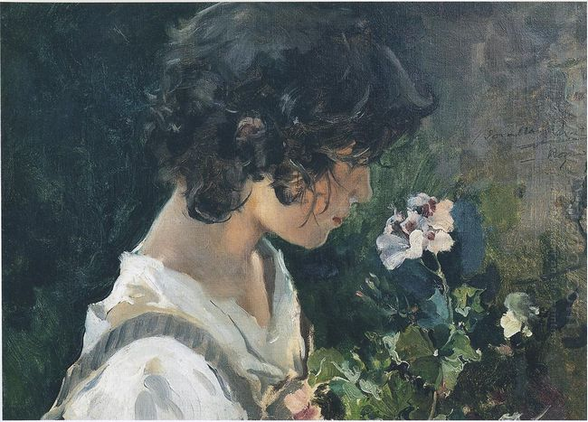 Italian Girl With Flowers 1886