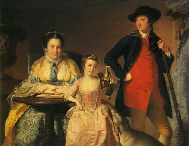 James And Mary Shuttleworth With One Of Their Daughters