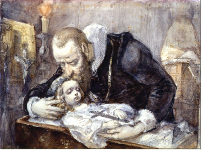 Jan Kochanowski Over The Dead Body Of His Daughter 1862