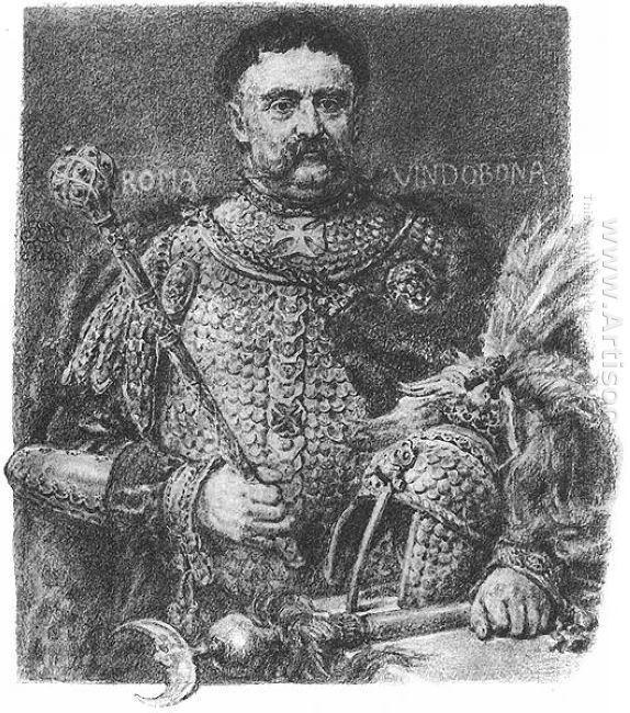 Jan Sobieski Portraited In A Parade Scale Armour