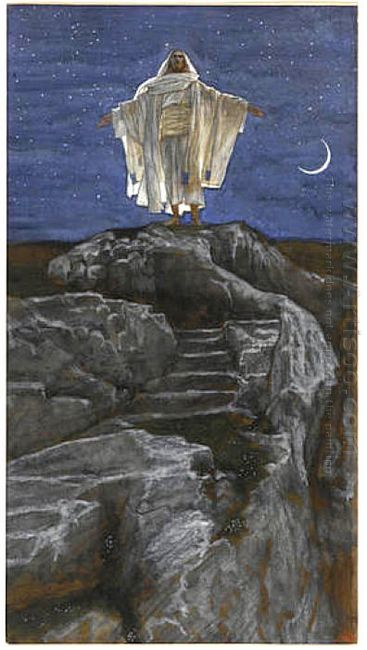 Jesus Goes Up Alone Onto A Mountain To Pray 1894