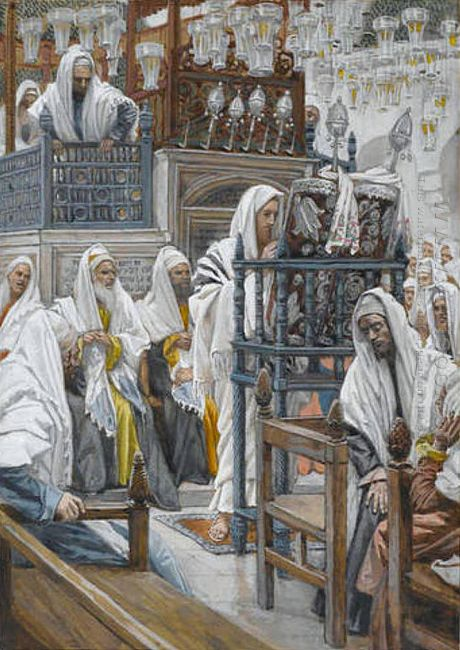 Jesus Unrolls The Book In The Synagogue 1894
