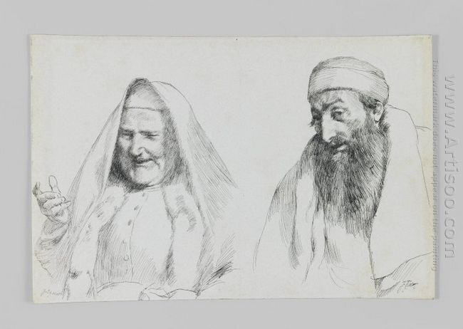Jew And Jewess Illustration From The Life Of Our Lord Jesus Chri