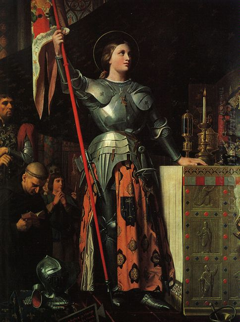 Joan Of Arc On Corronation Of Charles Vii In The Cathedral Of Re