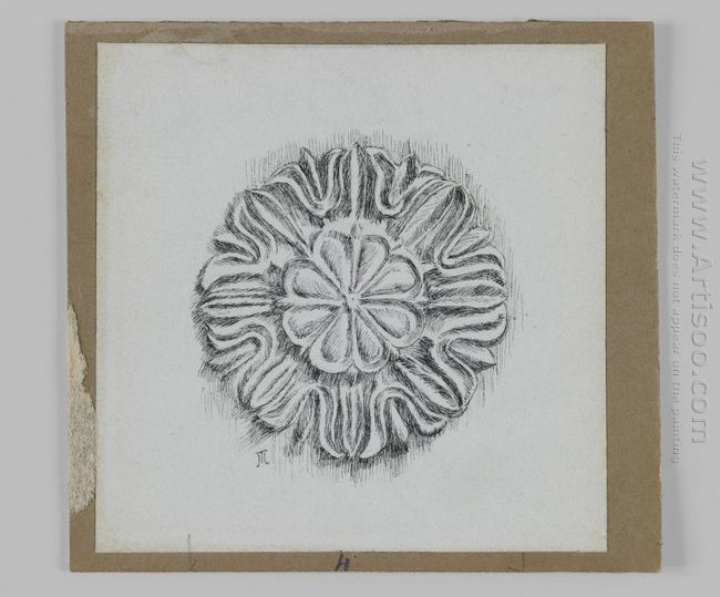 Judaic Ornament Rosette 1889