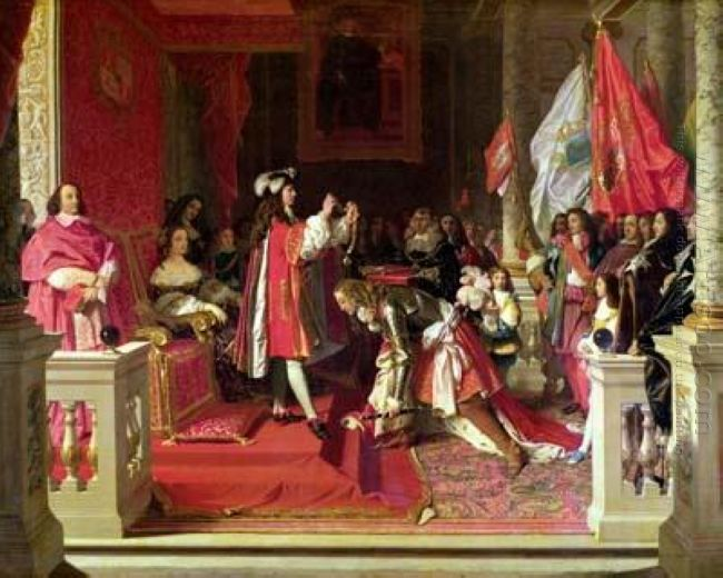 King Philip V Of Spain Making Marshal James Fitzjames