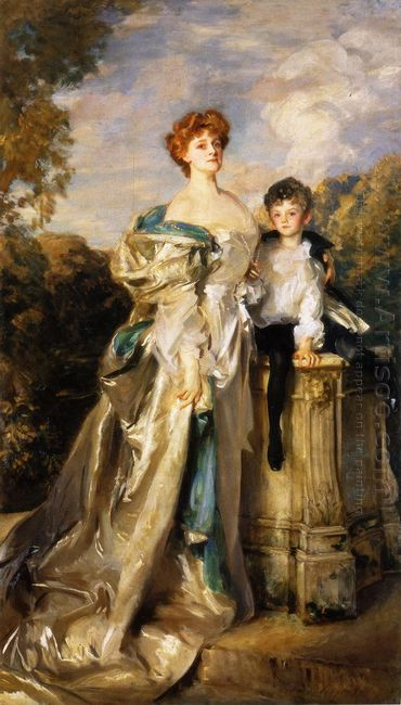 Lady Warwick And Her Son 1905