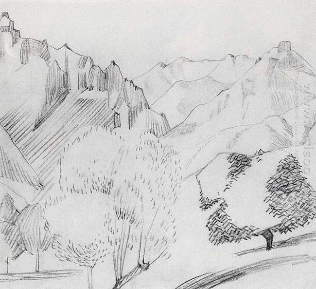 Landscape In Kalaki Gohtan 1914