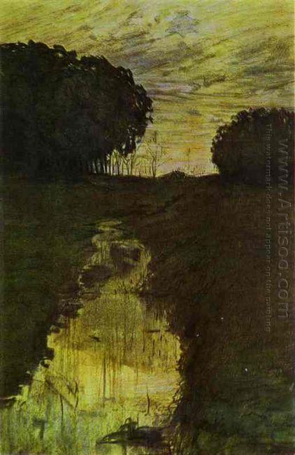 Landscape In The Evening Martyshkino