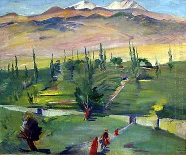 Landscape With A View Of Mount Ararat 1937