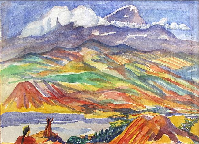 Landscape With Mountains 1960