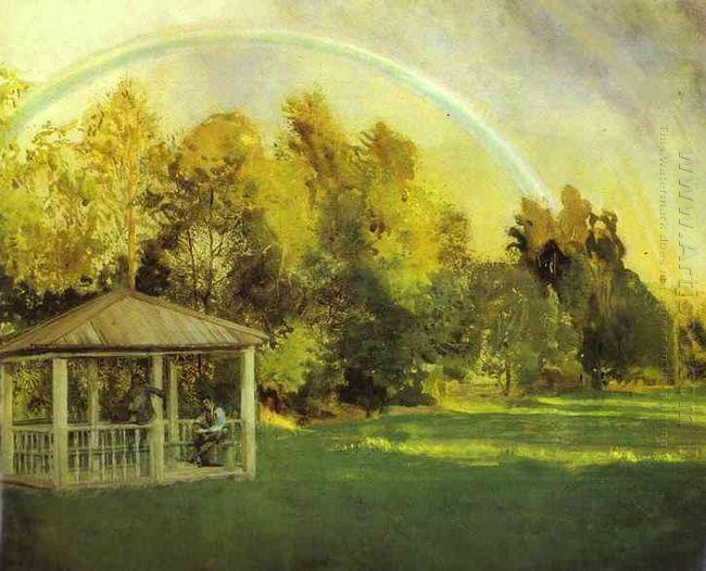 Landscape With Pavillion