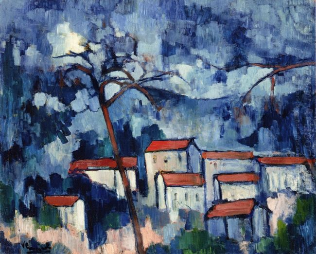 Landscape With Red Roofs